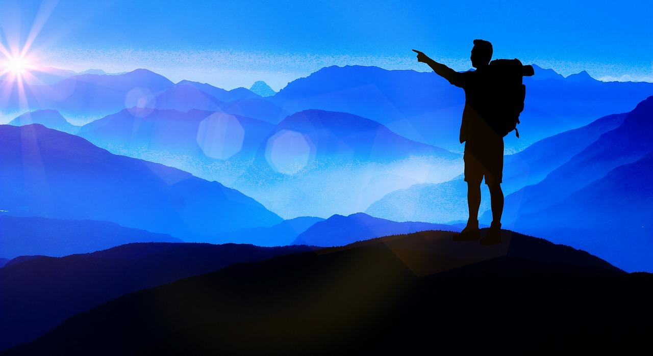 登山家のイラスト